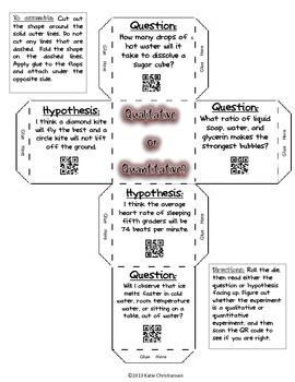 Quantitative and Qualitative Activities