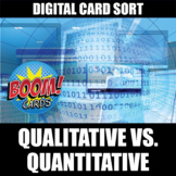 Quantitative and Qualitative Boom Cards | Distance Learning