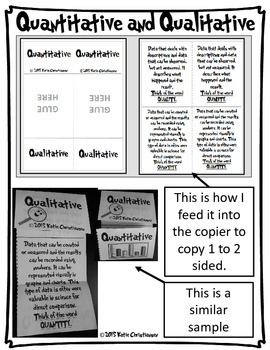 Quantitative and Qualitative Foldable