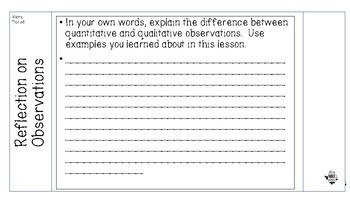 Quantitative and Qualitative Interactive Notebook Activity for Middle School