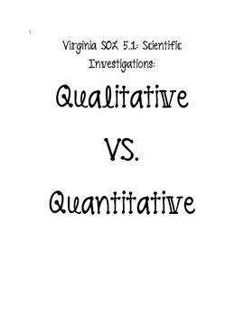 Quantitative and Qualitative Science Notes