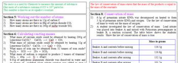 Moles calculations GCSE