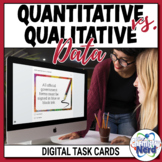 Quantitative vs. Qualitative Digital Task Cards | Distance