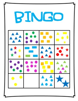 Quantity Concepts Bingo