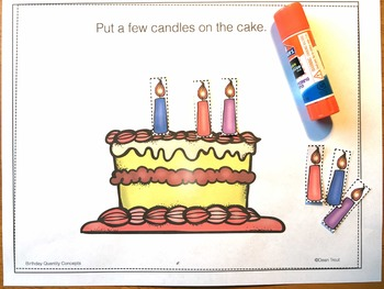 Quantity Concepts Speech Therapy All Some None Many Few Several Birthday Theme