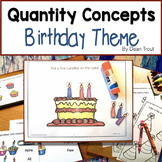 Quantity Concepts for Speech Therapy | Birthday Party Theme
