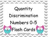 Quantity Discrimination Flash Cards Numbers 0-5