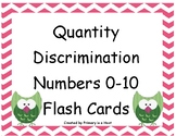 Quantity Discrimination Flash Cards Numbers 0 to 10