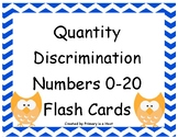 Quantity Discrimination Flash Cards Numbers 0 to 20