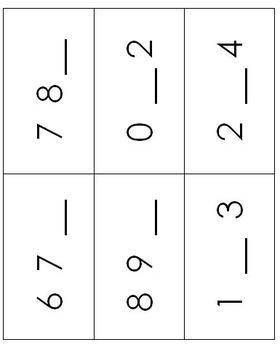 Quantity Discrimination & Missing Number Flashcards Set 1