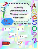 Quantity Discrimination & Missing Number Flashcards Set 1