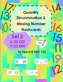 Quantity Discrimination & Missing Number Flashcards Set 2