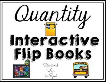 Quantity Interactive Flip Books for Preschool, Pre-K and Special Needs