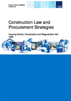Quantity Surveying - Construction Law and Procurement Strategies - Report