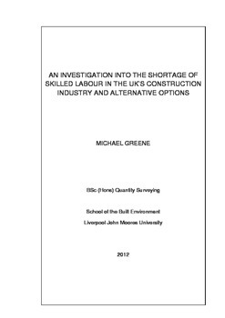 Quantity Surveying Dissertation - UK Labour Shortage