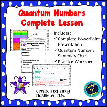 Quantum Numbers Complete Lesson