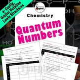 Quantum Numbers, Electron Configurations and Orbital Diagrams Worksheet