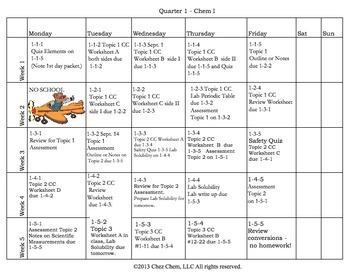 CC Quarter 1 Calendar
