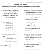 Daily Math Spiral Practice- First Quarter Fantastic Five T