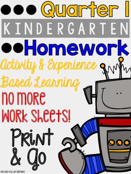 Quarter 1: Kindergarten Homework
