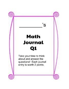 Quarter 1 Math Journal - Grade 3