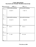 6th Grade Quarter 1 Weekly Math Homework - 9 Weekly Homewo