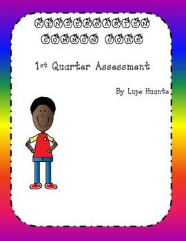 Quarter One math Kindergarten assessment