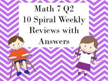 Quarter 2 Spiral Weekly Reviews