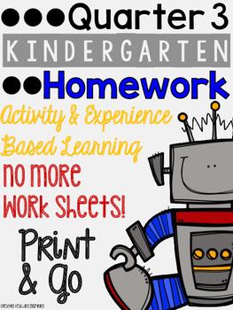 Quarter 3: Kindergarten Homework