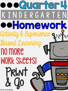 Quarter 4: Kindergarten Homework