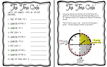 Quarter After- Quarter Til- and Half Past- Time Code Resources