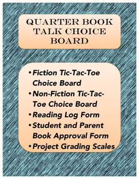 Quarter Book Talk Choice Boards