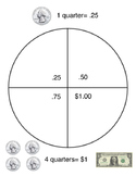 Quarter Counting Organizer for Special Education- Visual Aid
