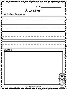 Quarter Emergent Reader Coin Book AND Interactive Activities
