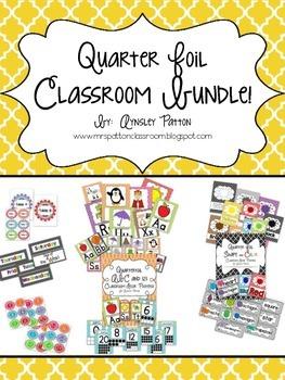 Quarter Foil Classroom Decor Bundle Set!
