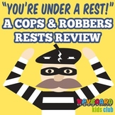 Quarter Half Whole Rest Value Review Worksheet Cops And Robbers