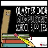 Quarter Inch Measurement Task Cards