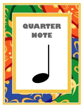 Quarter Note Poster