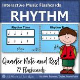 Rhythm Flashcards {Quarter Note & Quarter Rest} Interactive Rhythm Flash Cards