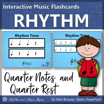 Rhythm Flashcards {Quarter Note & Quarter Rest} Interactive Rhythm Flash Cards