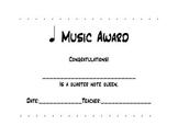 Quarter Note King & Queen Award