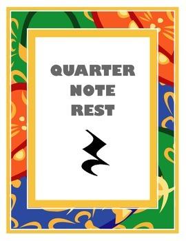 Quarter Note Rest Poster