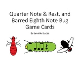 Quarter Note/Rest, and Barred Eighth Note Bug Game Flashca