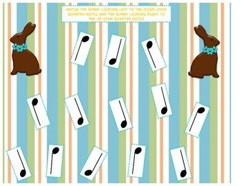 Quarter Note Stem Bunny Matching Game