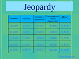 Quarter One Jeopardy Review