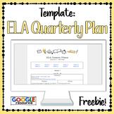 Quarterly Planning Template for ELA Teachers DIGITAL