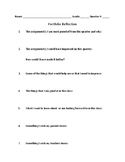 Quarter Portfolio Reflection Sheet