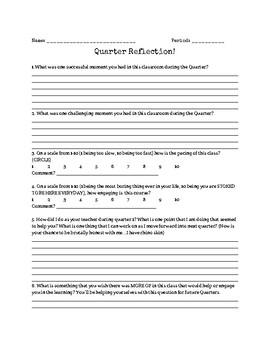 Quarter Reflection