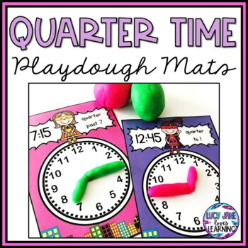 Quarter Time Superhero Playdough Mats