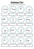 Quarter, half and o'clock | Year 2,3,4 Time WORKSHEET
